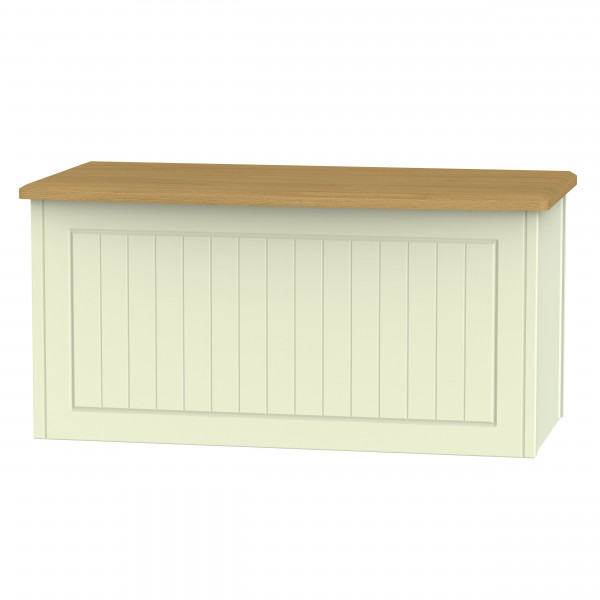 Avalon Cream & Oak Blanket Box