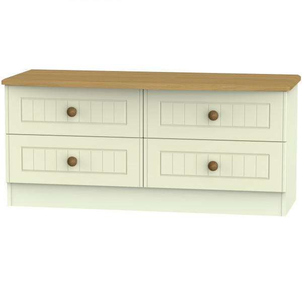 Avalon Cream & Oak 4 Drawer Bedbox