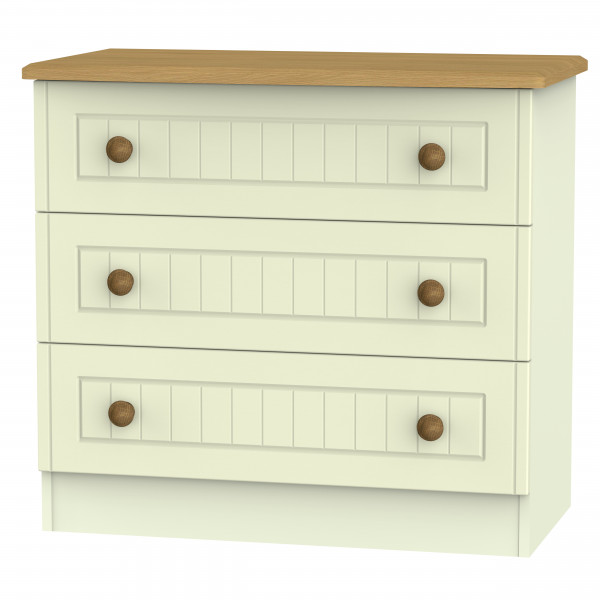 Avalon Cream & Oak 3 Drawer Chest