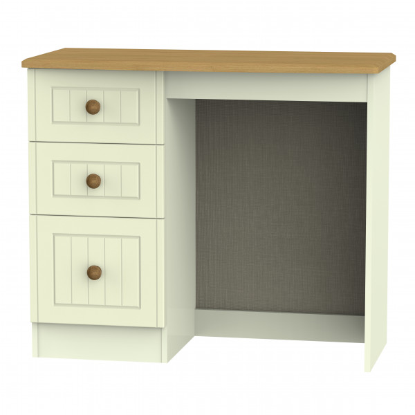 Avalon Cream & Oak 3 Drawer Vanity