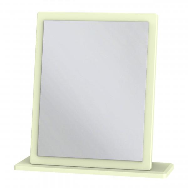 Avalon Cream & Oak Single Fixed Mirror