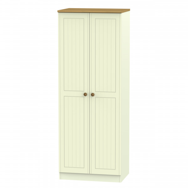 Avalon Cream & Oak 2 Door Wardrobe