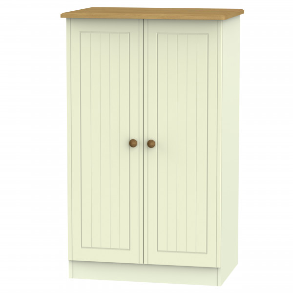 Avalon Cream & Oak 2 Door Midi Wardrobe