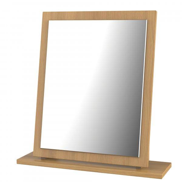 Style Oak Single Fixed Mirror