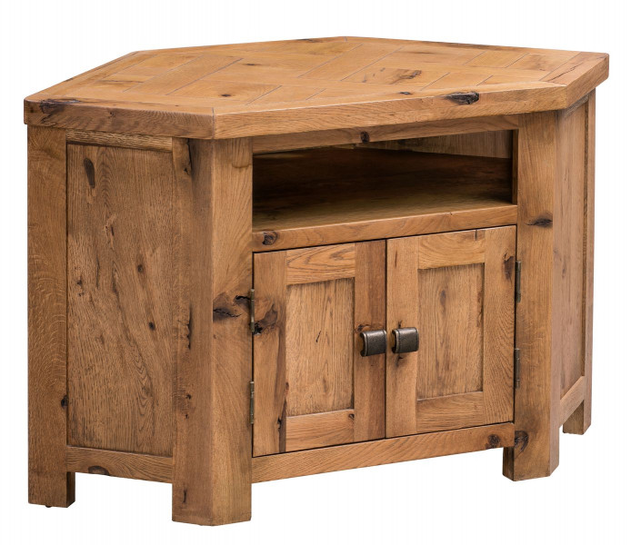 Aztec Oak Corner TV Unit