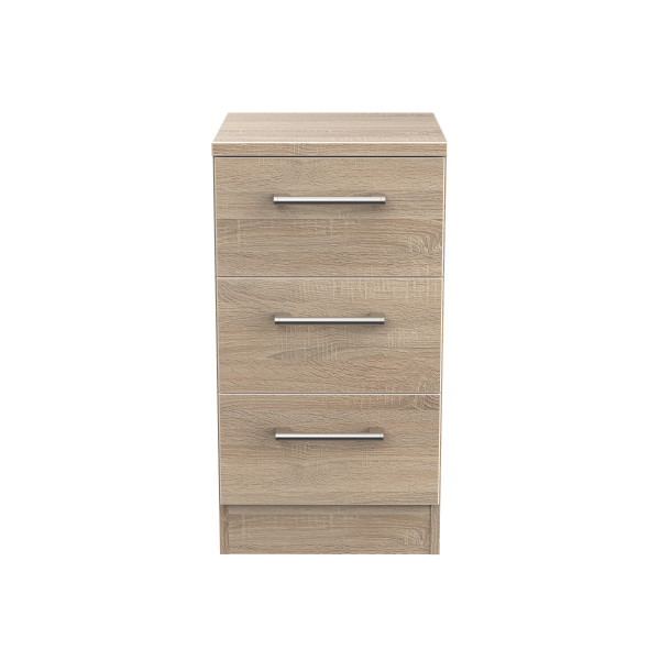 London Light Oak 3 Drawer ocker