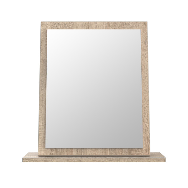 London Light Oak Small Mirror