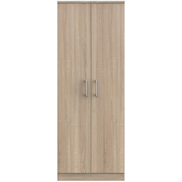 London Light Oak Double Wardrobe