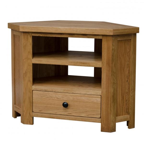 Rustic Oak Corner TV Unit