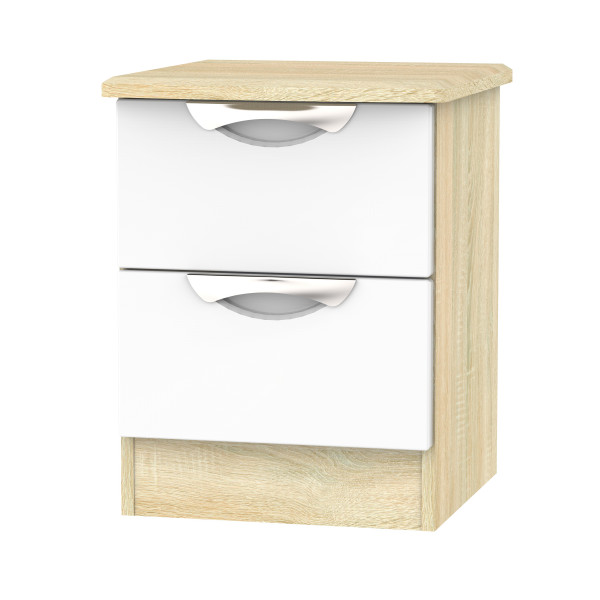 Vogue 2 Drawer Bedside