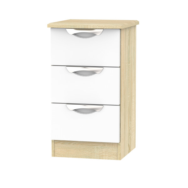 Vogue 3 Drawer Bedside