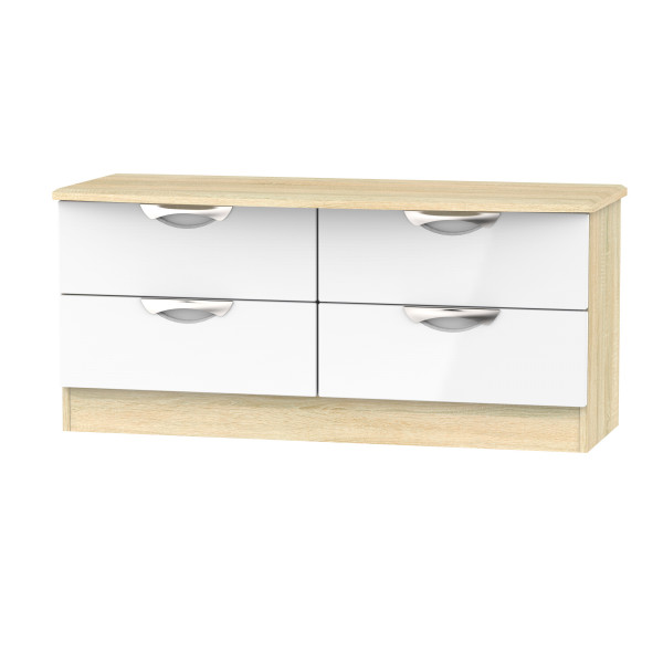 Vogue 4 Drawer Low Chest