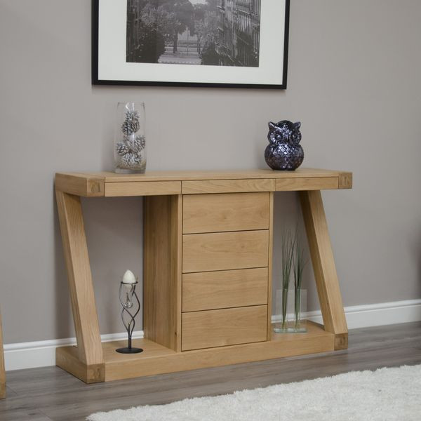 Z Wide Hall Table with Drawers