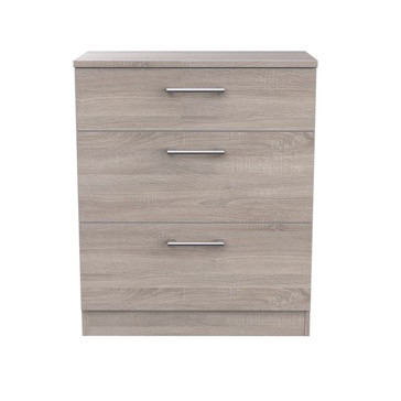 London Dark Oak 3 Drawer Deep Chest