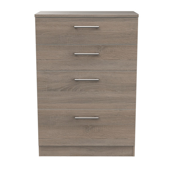 London Dark Oak 4 Drawer Deep Chest