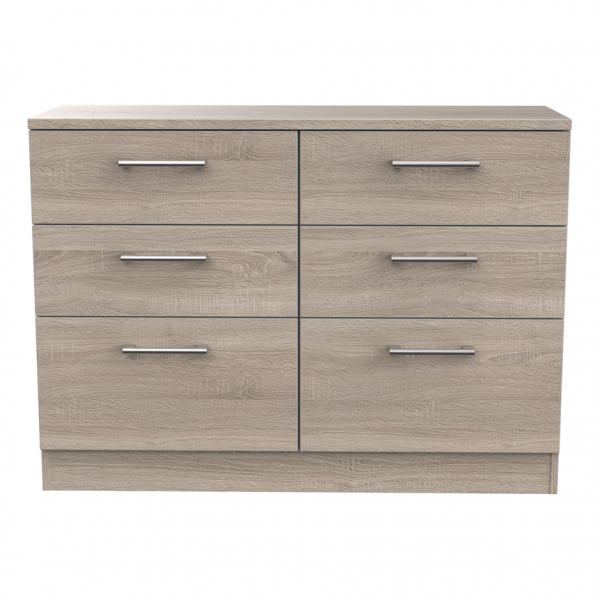 London Dark Oak 6 Drawer Midi Chest