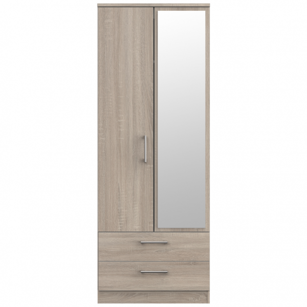 London Dark Oak Combi Robe
