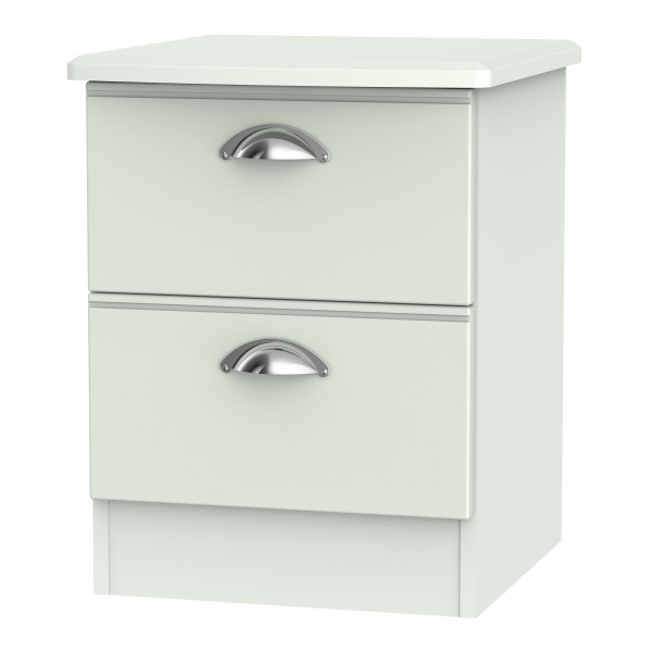 Kensington Grey 2 Drawer Bedside