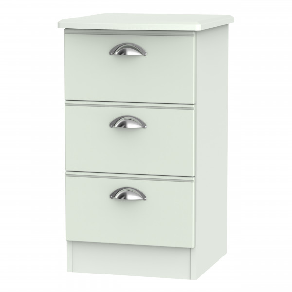 Kensington Grey 3 Drawer Bedside