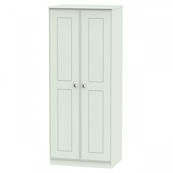 Kensington Grey 2 Door Wardrobe