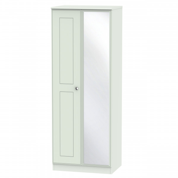 Kensington Grey 2 Door Mirrored Wardrobe