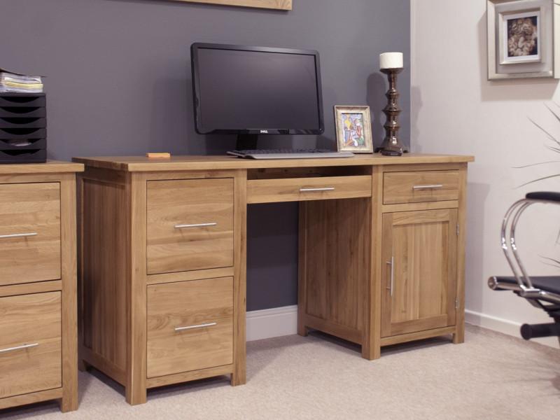 Inspire Oak Large Computer Desk