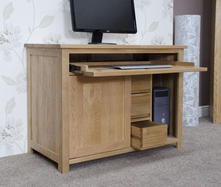 Inspire Oak Hideaway PC Desk