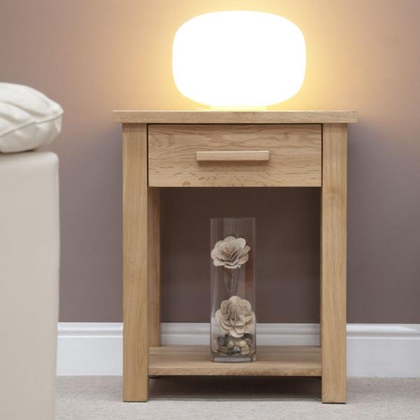 Inspire Oak Lamp Table