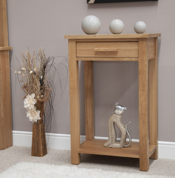 Inspire Oak Small Hall Table