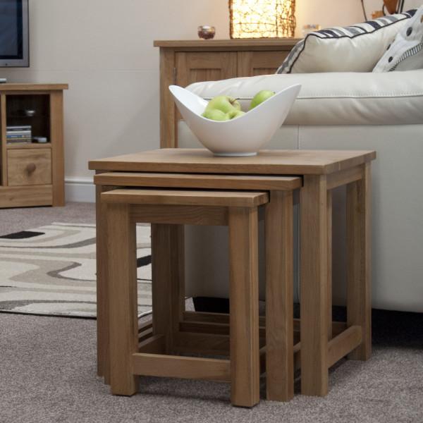 Inspire Oak Triple Nest of Tables