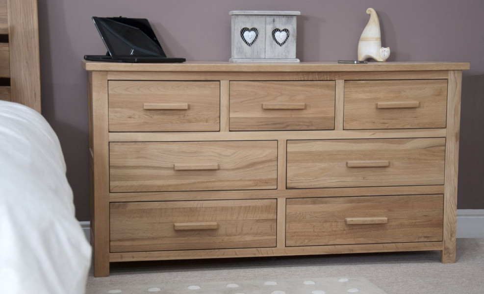 Inspire Oak 7 Drawer Multi-Chest