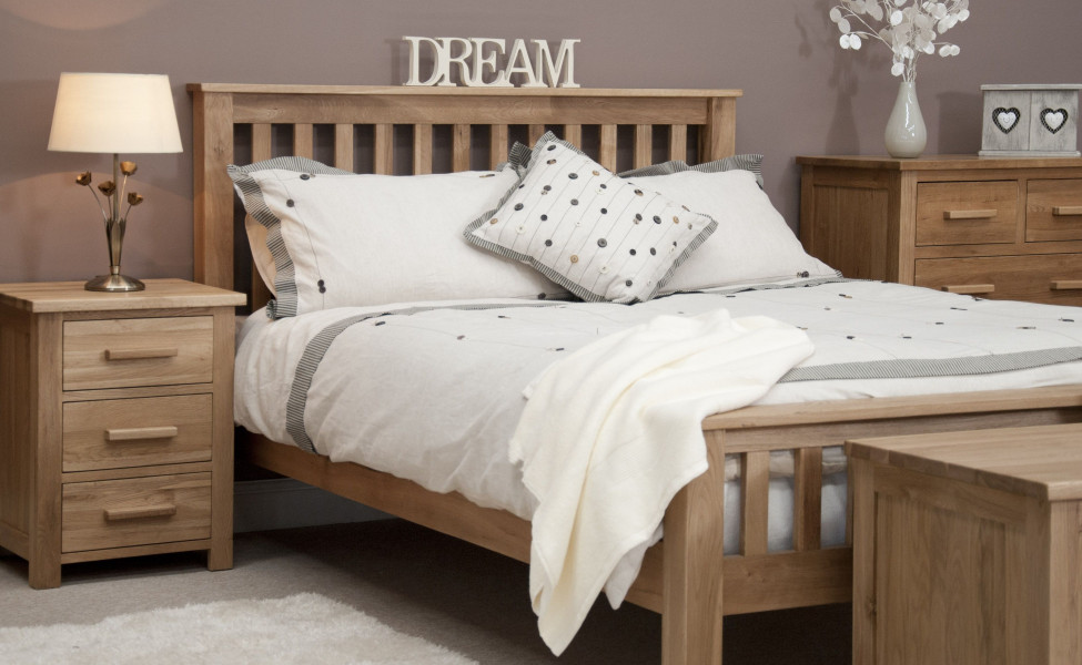 Inspire Oak Double Bed Frame