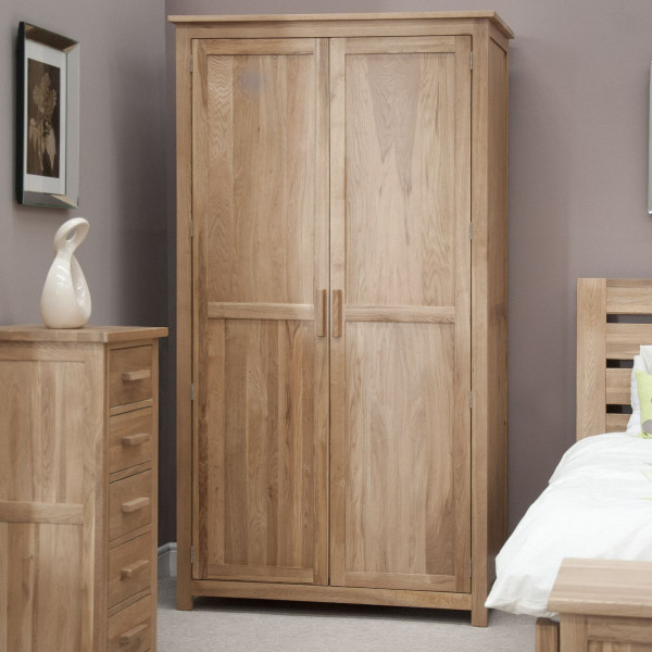 Inspire Oak 2 Door Wardrobe