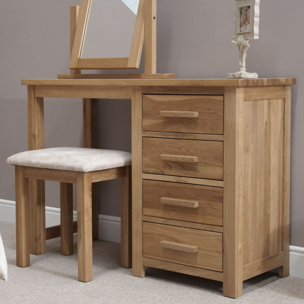 Inspire Oak Dressing Table & Stool