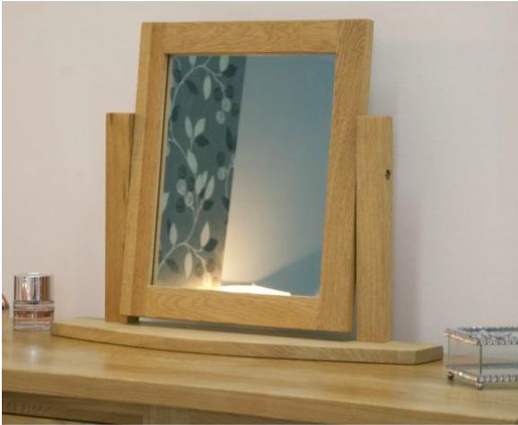 Inspire Oak Swivel Mirror