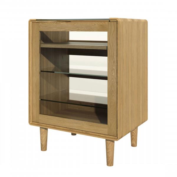 Scandic Oak Hi-Fi Cabinet