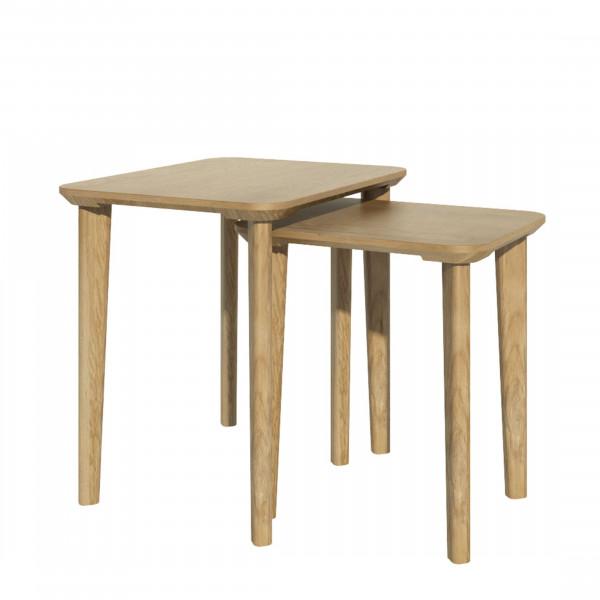 Scandic Oak Nest of Tables