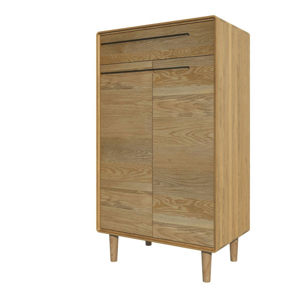 Scandic Oak Shoe Cabinet