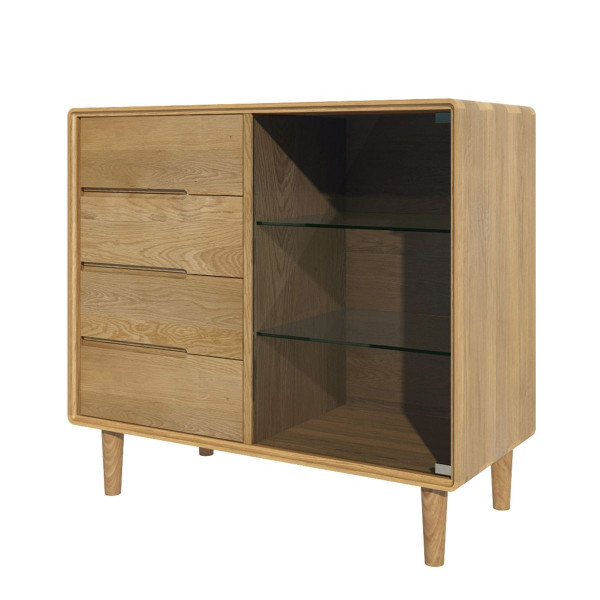 Scandic Oak Glazed Chest