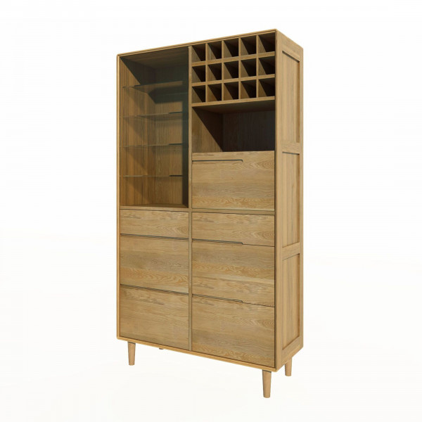 Scandic Oak Drinks Cabinet
