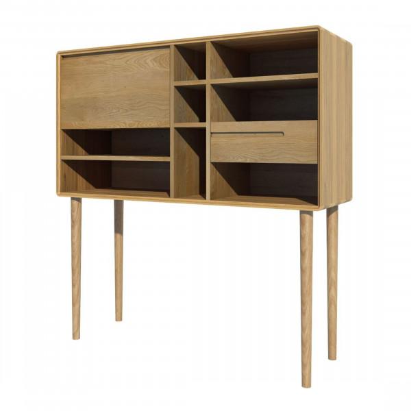 Scandic Oak Wide Cabinet