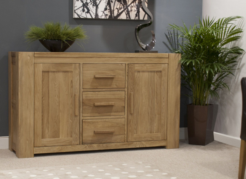 Chunky Oak Large Sideboard