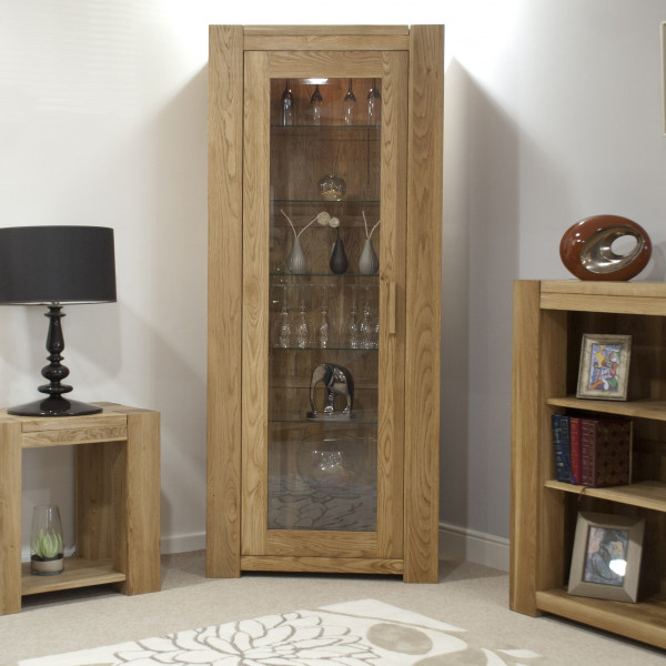 Chunky Oak 1 Door Bookcase