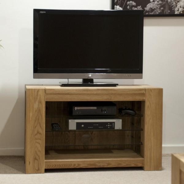 Chunky Oak TV Unit