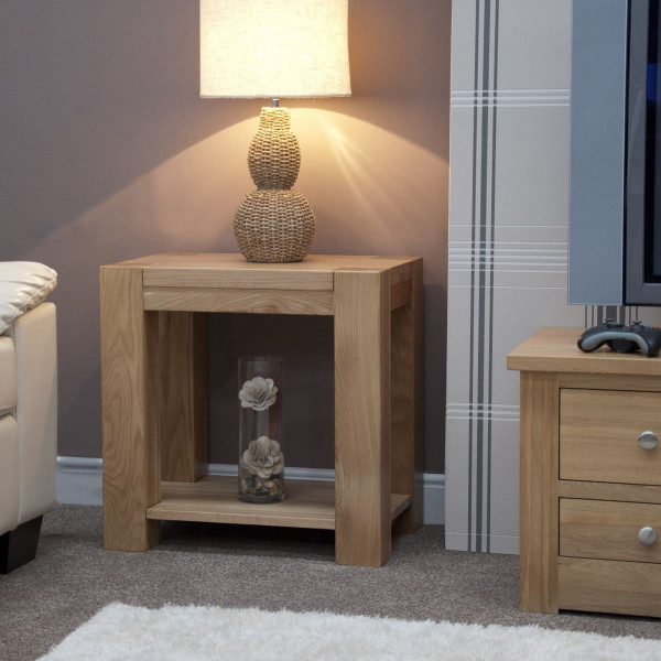 Chunky Oak Lamp Table