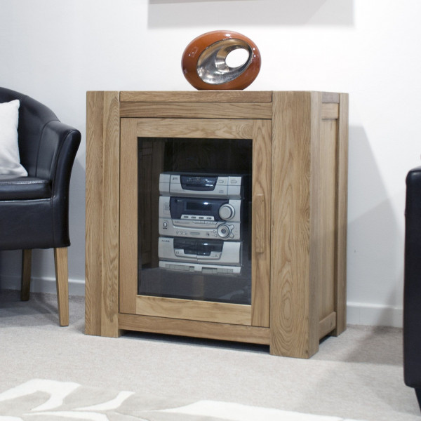 Chunky Oak Hi-fi Unit