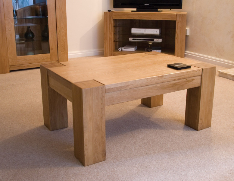 Chunky Oak 3x2 Coffee Table