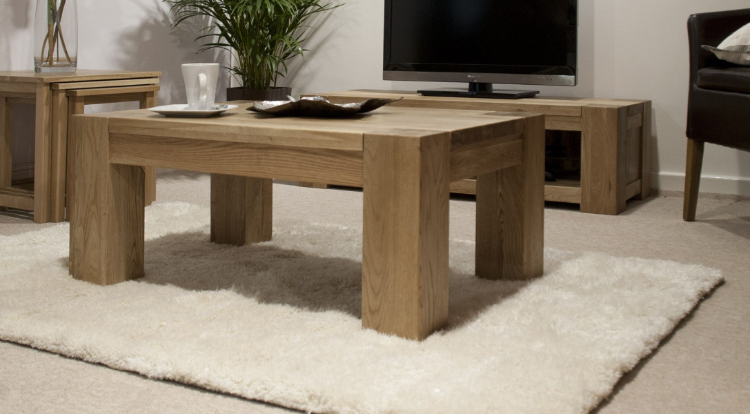 Chunky Oak 4x2 Coffee Table