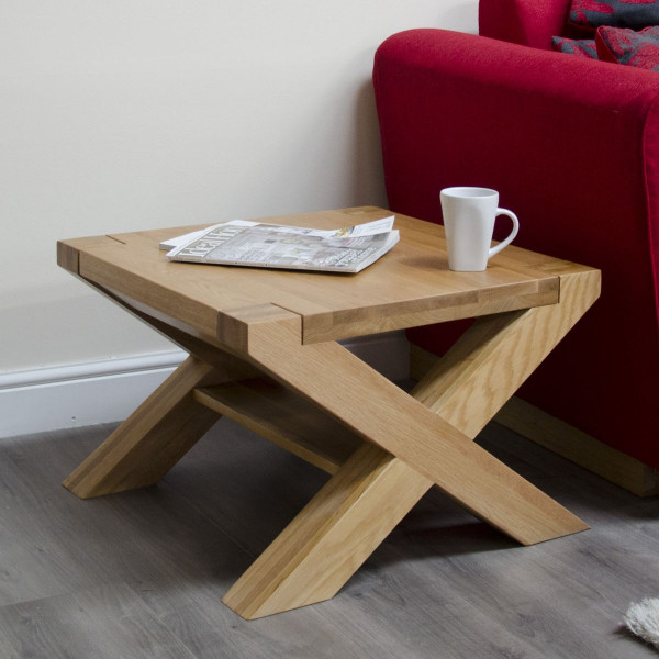 Chunky Oak 2x2 X Leg Coffee Table