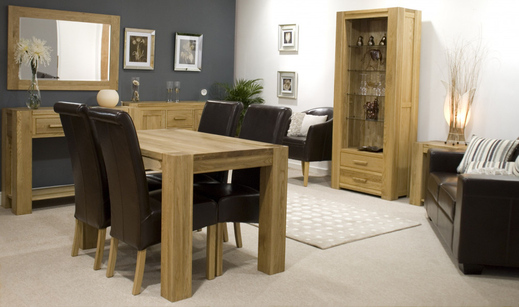 Chunky Oak Large Dining Table